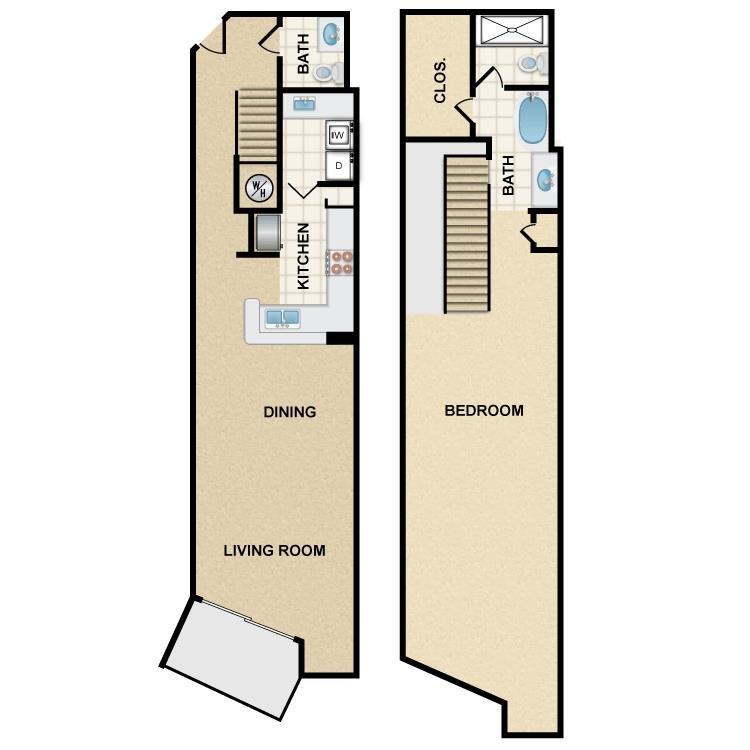 1 Bedroom 2 Bathrooms Apartment for rent at Ten 01 Apartments in Tempe, AZ