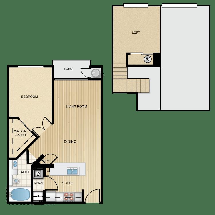 1 Bedroom 1 Bathroom Apartment for rent at Ten 01 Apartments in Tempe, AZ