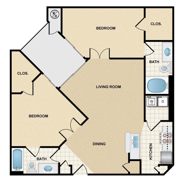 2 Bedrooms 2 Bathrooms Apartment for rent at Ten 01 Apartments in Tempe, AZ
