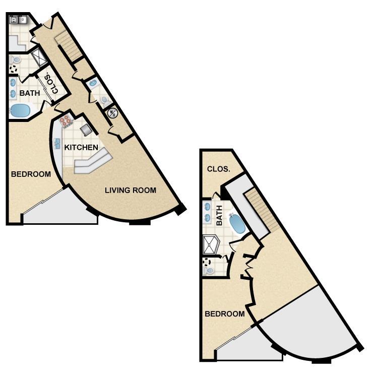 2 Bedrooms 3 Bathrooms Apartment for rent at Ten 01 Apartments in Tempe, AZ