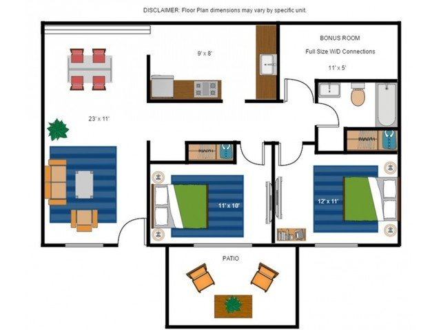 2 Bedrooms 1 Bathroom Apartment for rent at Amber Ridge Apartments in Richmond, VA