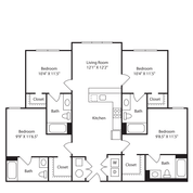 4 Bedrooms 4+ Bathrooms Apartment for rent at The Avenue in Fayetteville, AR