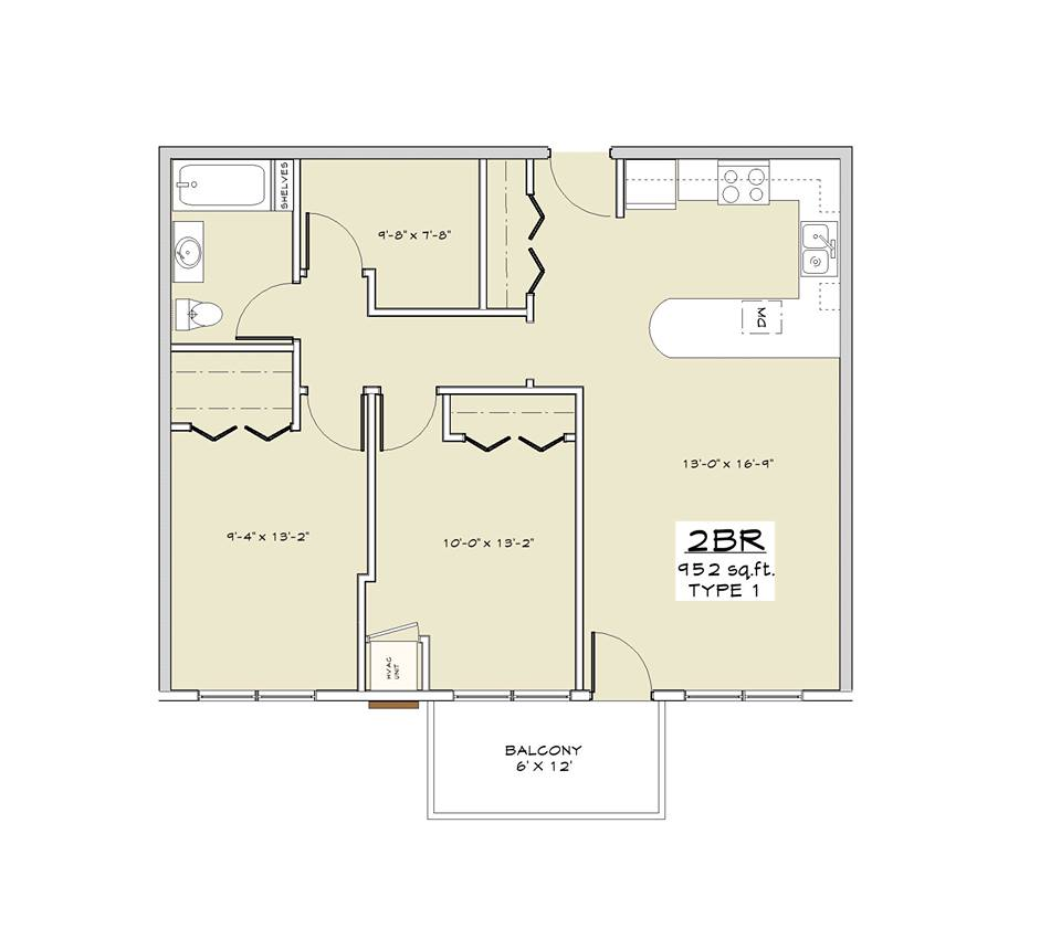 2 Bedrooms 1 Bathroom Apartment for rent at Granite Ridge in Madison, WI