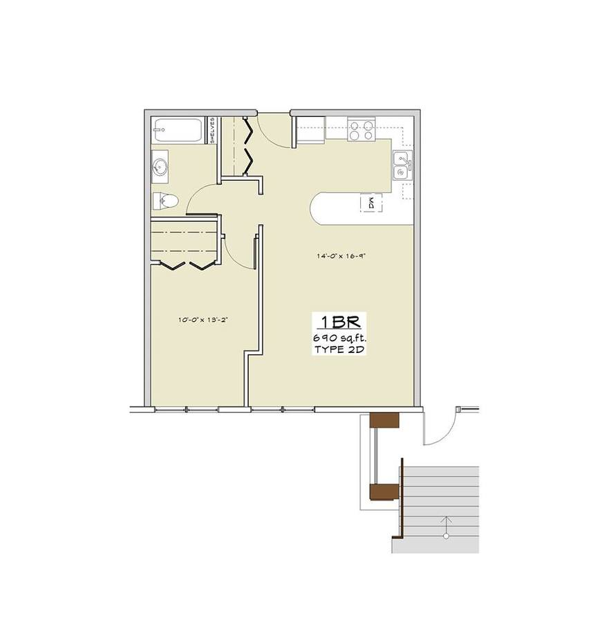 1 Bedroom 1 Bathroom Apartment for rent at Granite Ridge in Madison, WI