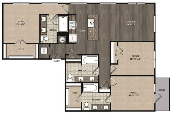3 Bedrooms 3 Bathrooms Apartment for rent at The Marling in Madison, WI