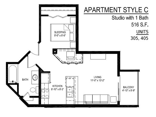 Studio 1 Bathroom Apartment for rent at Empire Place in Madison, WI