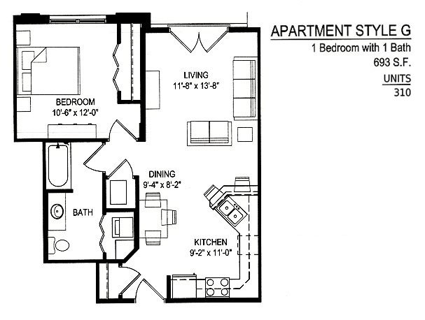 1 Bedroom 1 Bathroom Apartment for rent at Empire Place in Madison, WI