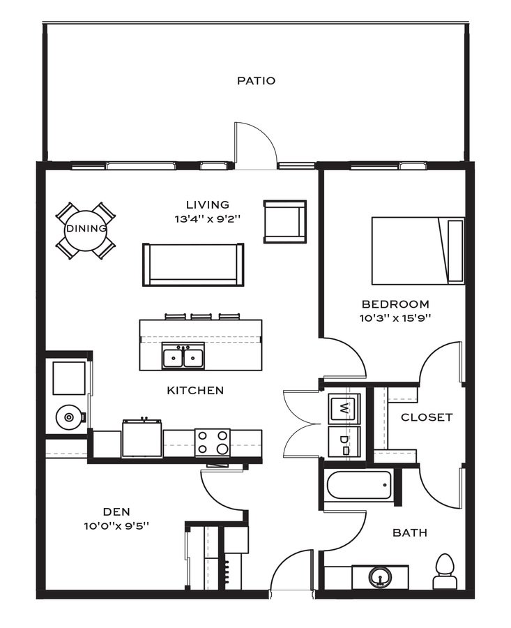 1 Bedroom 1 Bathroom Apartment for rent at Velocity in Des Moines, IA