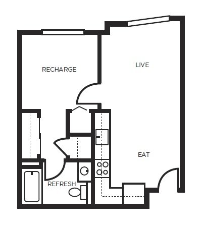 1 Bedroom 1 Bathroom Apartment for rent at 777 Broadway in Oakland, CA