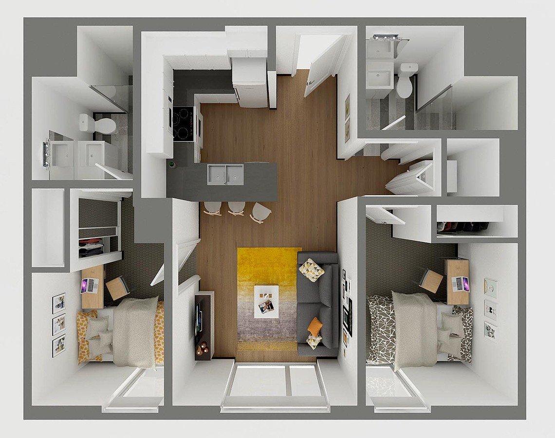 2 Bedrooms 2 Bathrooms Apartment for rent at Sol Y Luna in Tucson, AZ