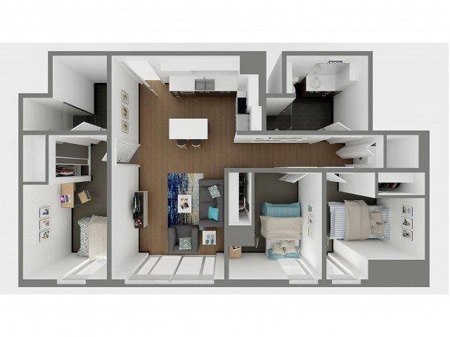 3 Bedrooms 2 Bathrooms Apartment for rent at Sol Y Luna in Tucson, AZ