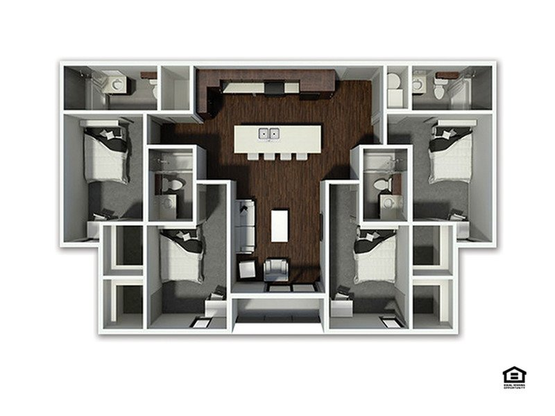 4 Bedrooms 4+ Bathrooms Apartment for rent at The Academy At Frisco in Fayetteville, AR
