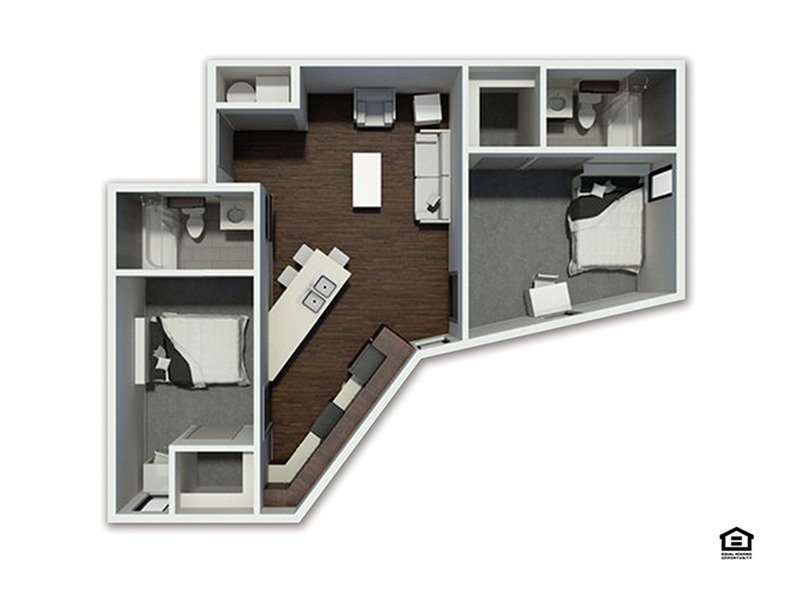 2 Bedrooms 2 Bathrooms Apartment for rent at The Academy At Frisco in Fayetteville, AR