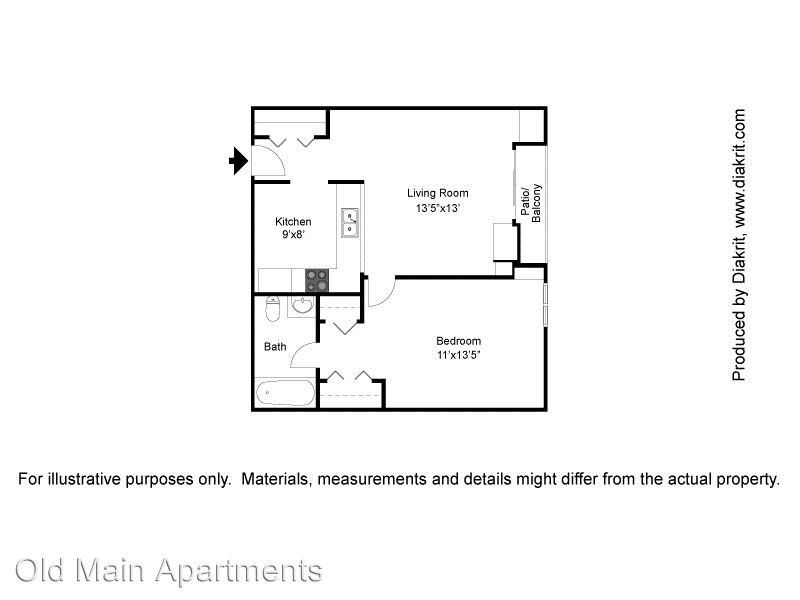 1 Bedroom 1 Bathroom Apartment for rent at 1101 25th Street in Des Moines, IA