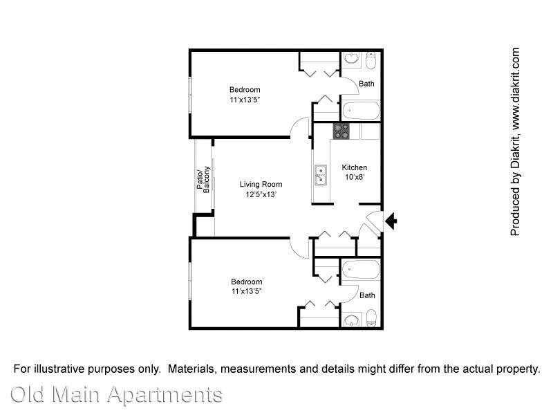 2 Bedrooms 2 Bathrooms Apartment for rent at 1101 25th Street in Des Moines, IA