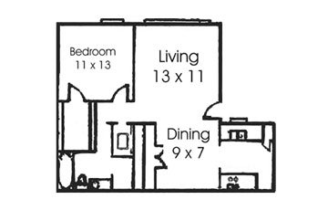 1 Bedroom 1 Bathroom Apartment for rent at Treehouse Apartments in College Station, TX