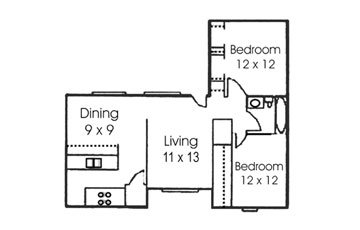 2 Bedrooms 1 Bathroom Apartment for rent at Treehouse Apartments in College Station, TX