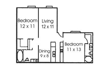 2 Bedrooms 2 Bathrooms Apartment for rent at Treehouse Apartments in College Station, TX