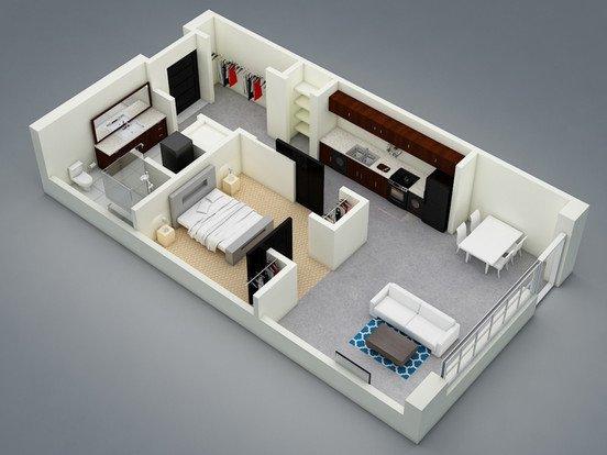Studio 1 Bathroom Apartment for rent at Marketplace Apartments in Lansing, MI