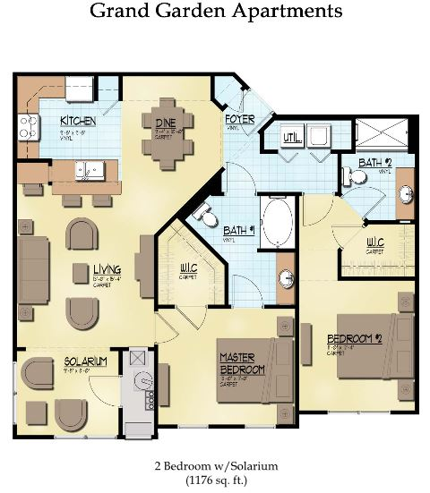2 Bedrooms 2 Bathrooms Apartment for rent at The Beaumont Apartments in East Lansing, MI