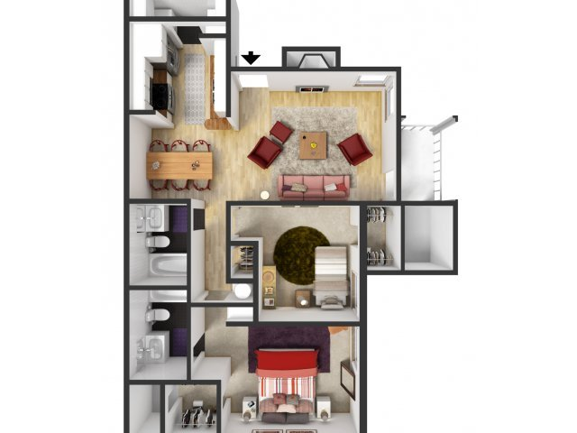 2 Bedrooms 2 Bathrooms Apartment for rent at Campus Station in College Station, TX