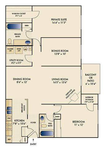 2 Bedrooms 2 Bathrooms Apartment for rent at Shadow Ridge in Louisville, KY