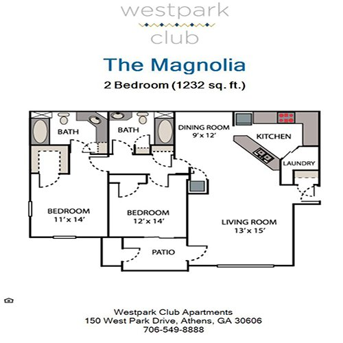 2 Bedrooms 2 Bathrooms Apartment for rent at Westpark Club in Athens, GA