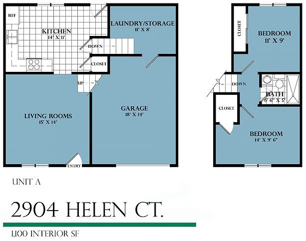 2 Bedrooms 1 Bathroom House for rent at Helen Court in Champaign, IL