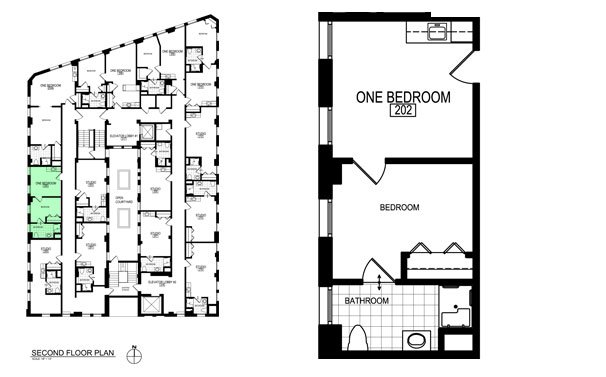 1 Bedroom 1 Bathroom Apartment for rent at Inman Place in Champaign, IL