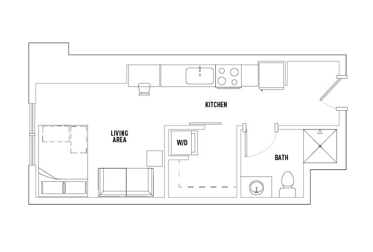 Studio 1 Bathroom Apartment for rent at 959 Franklin in Eugene, OR