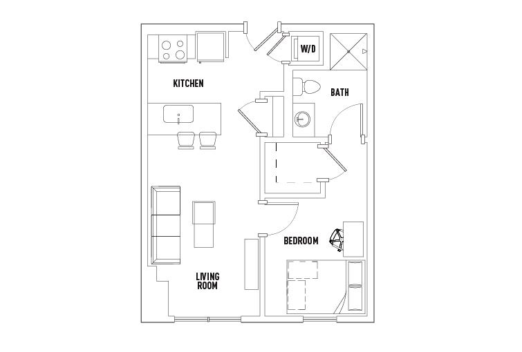 1 Bedroom 1 Bathroom Apartment for rent at 959 Franklin in Eugene, OR