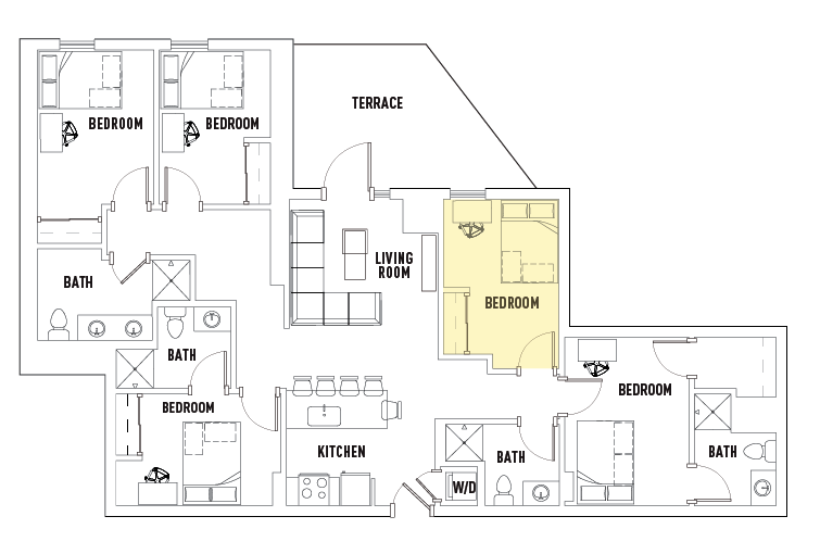 5 Bedrooms 4+ Bathrooms Apartment for rent at 959 Franklin in Eugene, OR