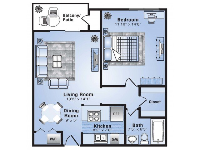 1 Bedroom 1 Bathroom Apartment for rent at Advenir At Stapleton in Denver, CO