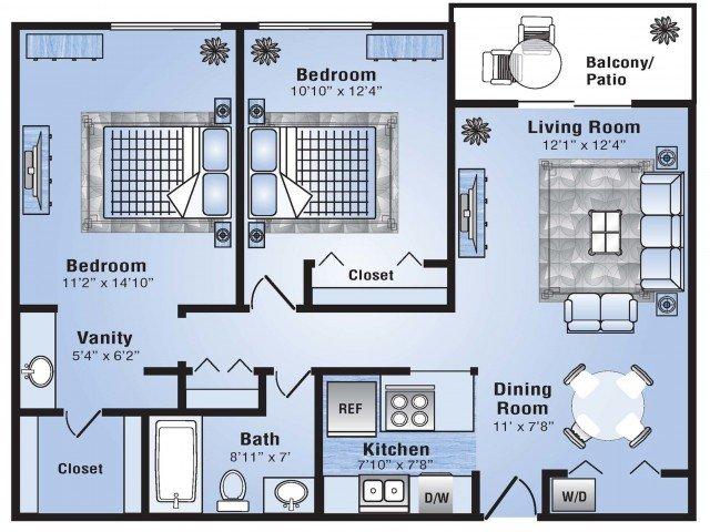 2 Bedrooms 1 Bathroom Apartment for rent at Advenir At Stapleton in Denver, CO