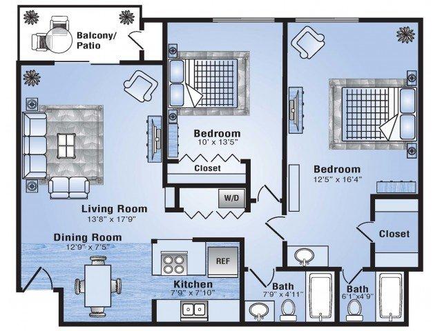 2 Bedrooms 2 Bathrooms Apartment for rent at Advenir At Stapleton in Denver, CO