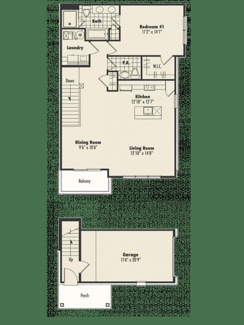 1 Bedroom 1 Bathroom Apartment for rent at Centerra Pointe in Ann Arbor, MI