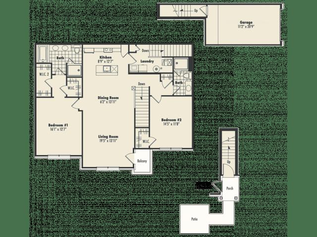 2 Bedrooms 2 Bathrooms Apartment for rent at Centerra Pointe in Ann Arbor, MI