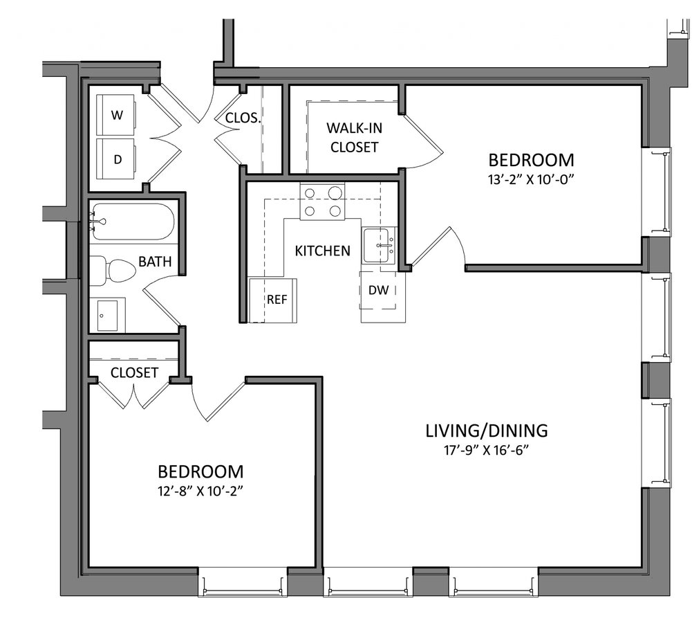 2 Bedrooms 1 Bathroom Apartment for rent at Mckay in Beverly, MA