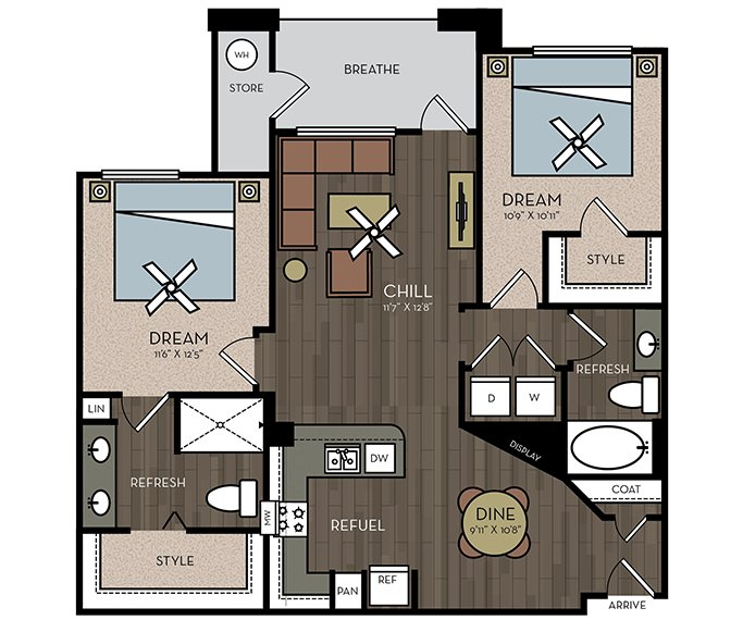 2 Bedrooms 2 Bathrooms Apartment for rent at Avion On Legacy in Scottsdale, AZ