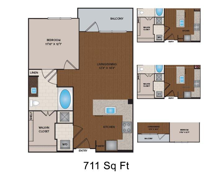 1 Bedroom 1 Bathroom Apartment for rent at Citrine in Phoenix, AZ