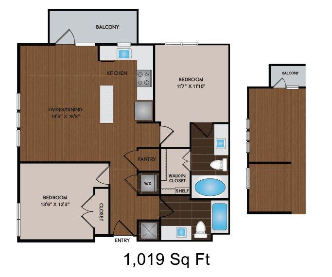 2 Bedrooms 2 Bathrooms Apartment for rent at Citrine in Phoenix, AZ