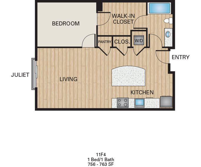 1 Bedroom 1 Bathroom Apartment for rent at The Battery On Blake Street in Denver, CO