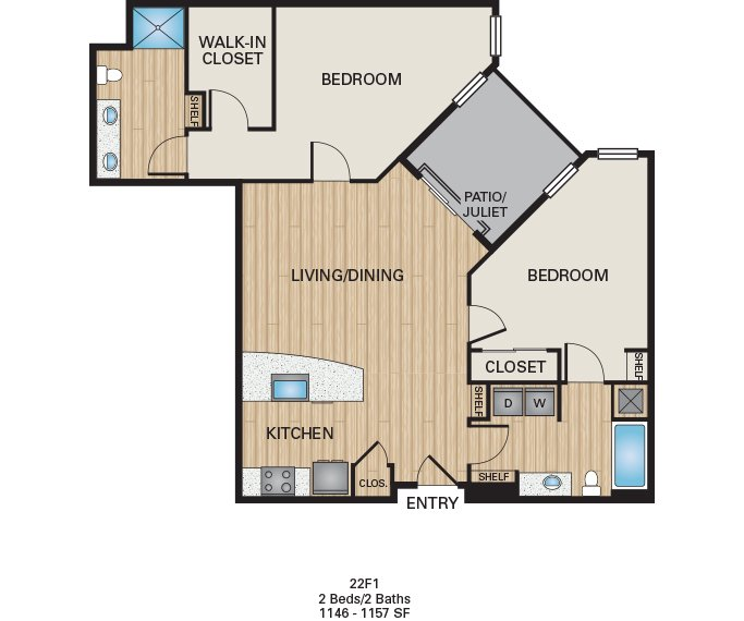 2 Bedrooms 2 Bathrooms Apartment for rent at The Battery On Blake Street in Denver, CO