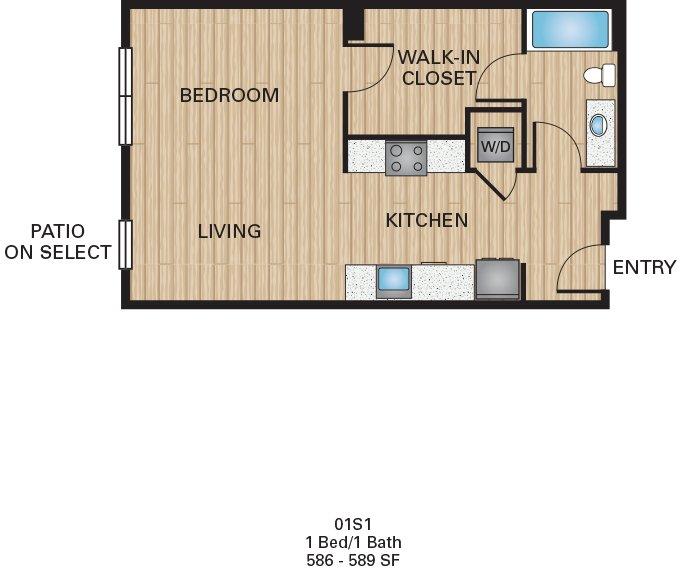 Studio 1 Bathroom Apartment for rent at The Battery On Blake Street in Denver, CO
