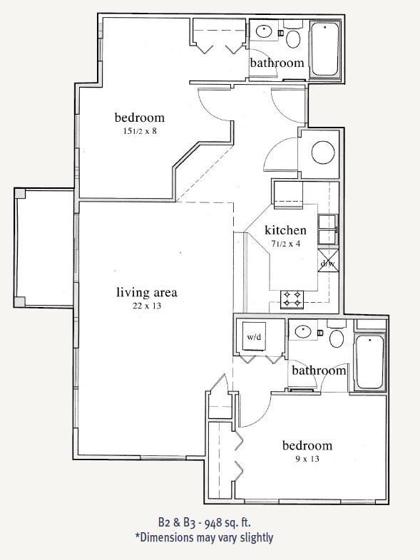 2 Bedrooms 2 Bathrooms Apartment for rent at Trocadero Apartments in Denver, CO