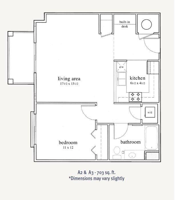 1 Bedroom 1 Bathroom Apartment for rent at Trocadero Apartments in Denver, CO