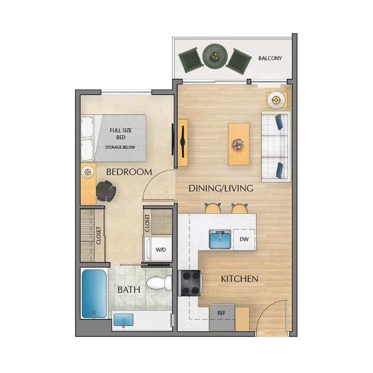 1 Bedroom 1 Bathroom Apartment for rent at Orchard Crossing Apartments in Eugene, OR