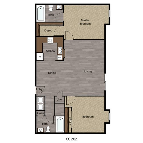 2 Bedrooms 2 Bathrooms Apartment for rent at Coppercreek in Council Bluffs, IA