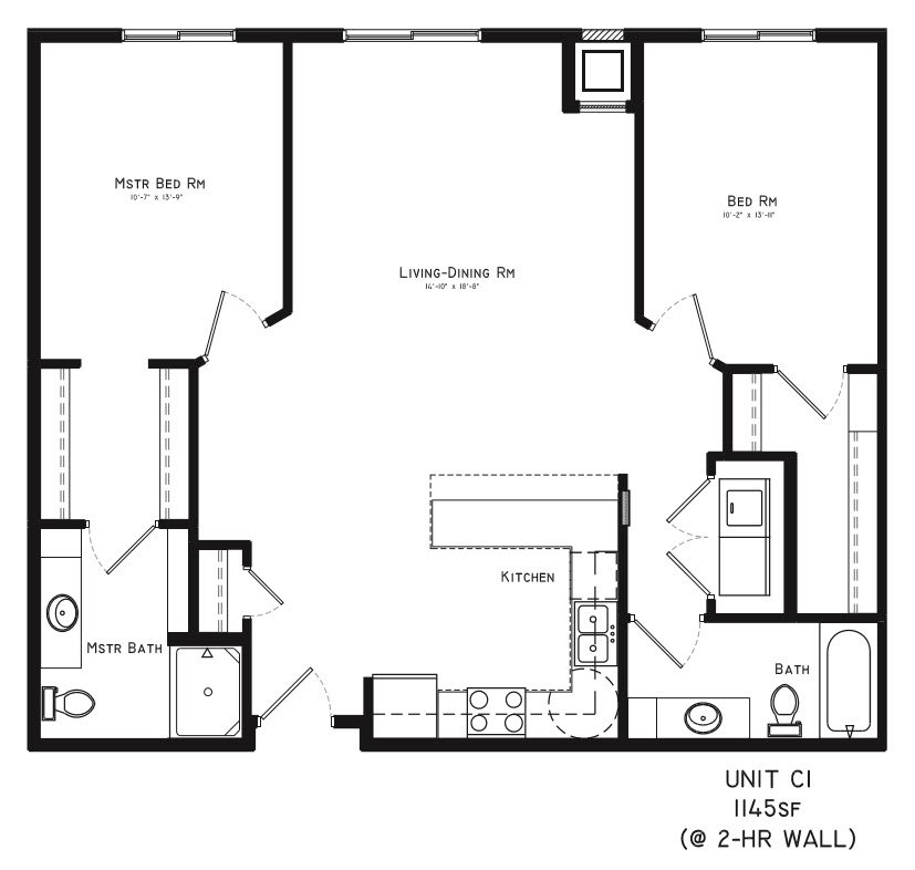 2 Bedrooms 2 Bathrooms Apartment for rent at Square At 48 in Lincoln, NE