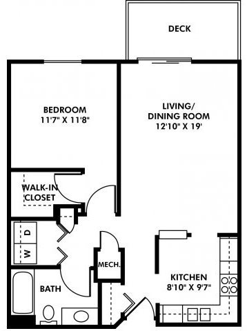 1 Bedroom 1 Bathroom Apartment for rent at Southwest Gables in Omaha, NE